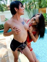 Watch kinky ladyboy couple f...