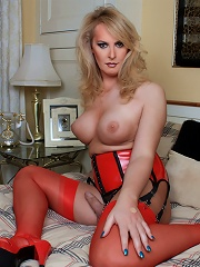 British shemale in hot red l...