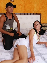 Two ladyboys showing off the...