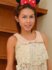 Lovely Thai teen ladyboy spr...