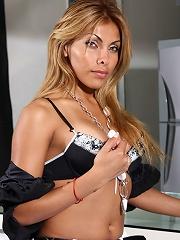 Cute transsexual posing in t...