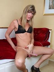 Sweet transsexual teasing wi...